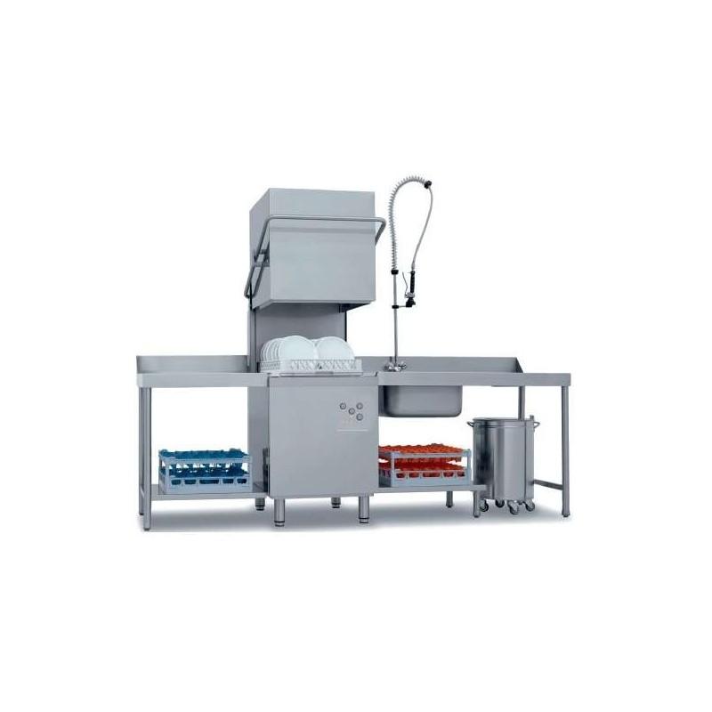 Lavavajillas Industrial Tpo Capota con Cesta de 50x50cm de 640 x740 x1480h mm VERONA CH800