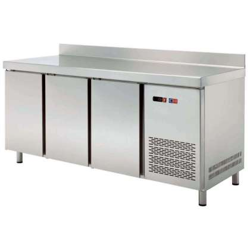 Mesa Snack Refrigerada 4 puertas Fondo 600 de 2542 x600 x850h mm CORDOBA MRCH-250