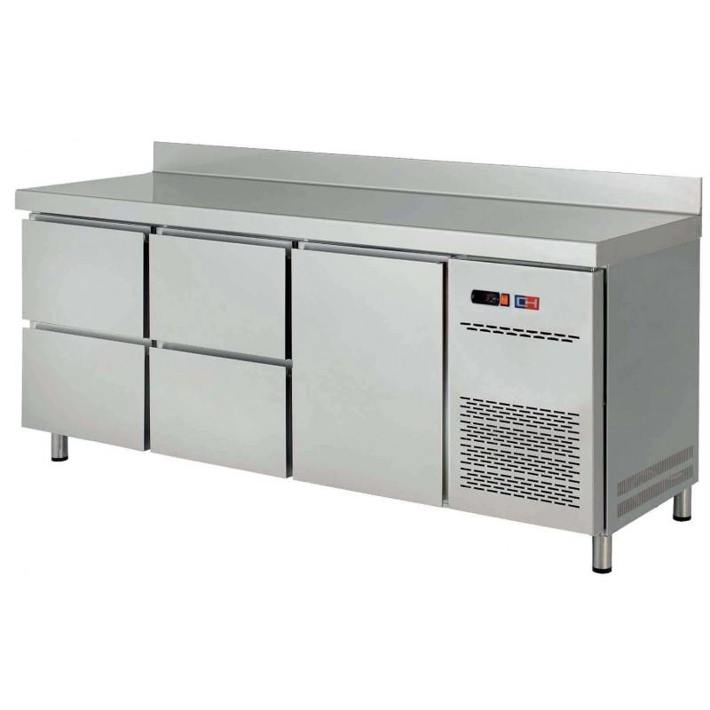 Mesa Snack Refrigerada 4 cajones + 1 puerta Fondo 600 de 2017 x600 x850h mm CORDOBA MRCH-200-4