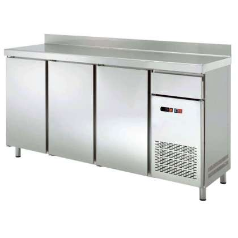 Frente Mostrador Refrigerado 4 puerta con cajón s de 2542 x600 x1045h mm CORDOBA FMCH-250