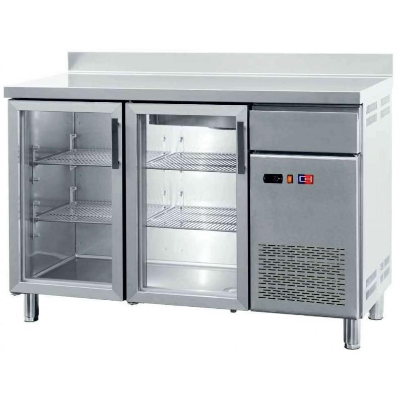 Frente Mostrador Refrigerado con Puertas de Vidrio 4 puertas de 2542 x600 x1045h mm CORDOBA FMCH-250V