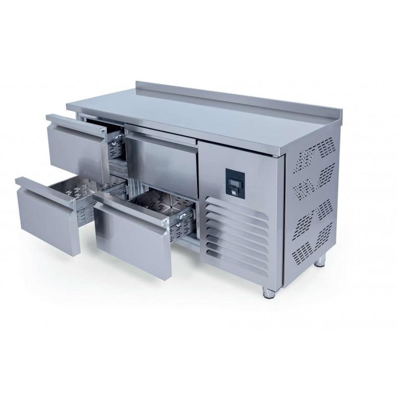 Mesa Refrigerada 4 cajones GN1/1 Fondo 700 de 1500 x700 x850h mm ESTAMBUL CTS330CR-2D-4