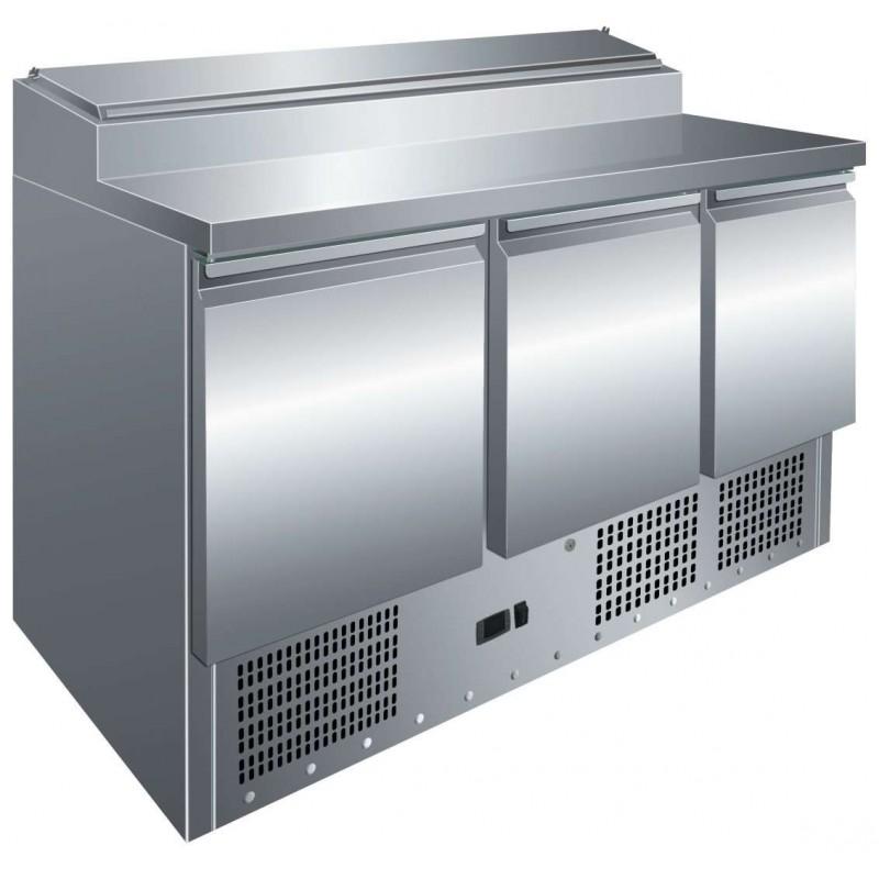 Mesa GN1/1 3 Puertas Preparación Ensaladas de 1365 x700 x1010h mm PEKIN PS300