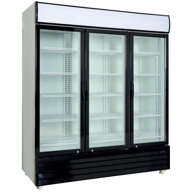 Armario Expositor Refrigerado 1600 litros 3 Puertas Batientes de Vidrio de 1720 x730 x2060h mm PEKIN CST1600