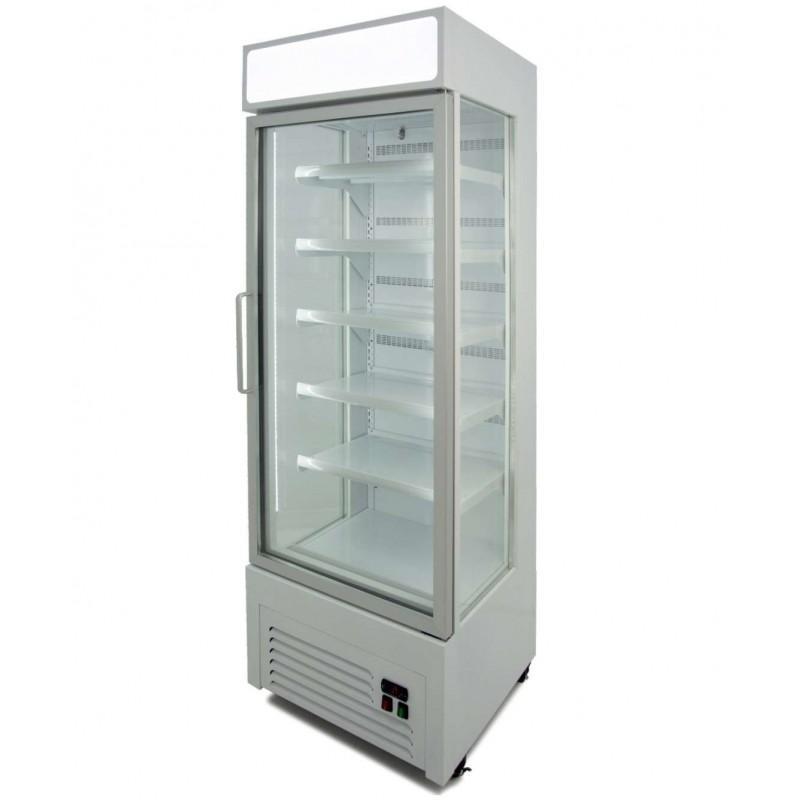 Armario Refrigerado Ventilado con Laterales de cristal 400 litros con 5 estantes COLOR BLANCO VISION400B
