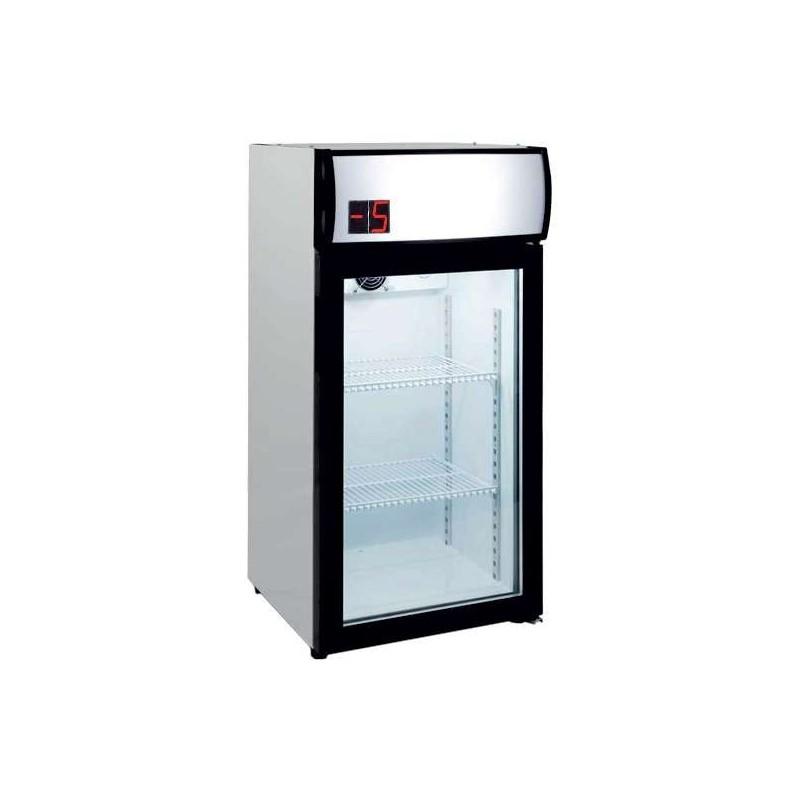 Armario Expositor Refrigerado 80 litros Subcero Puerta de Vidrio de 470X465X955h mm PEKIN SZ80L
