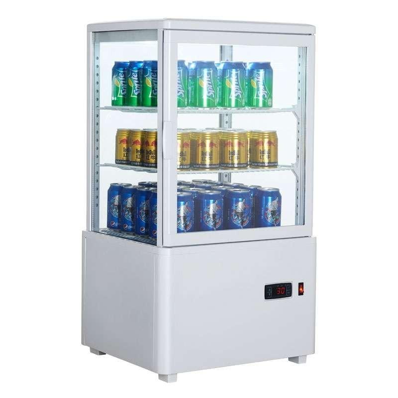 Expositor Refrigerado 4 Caras 58 litros Blanco de 447x400x819h mm Línea Pekín XC58L-B