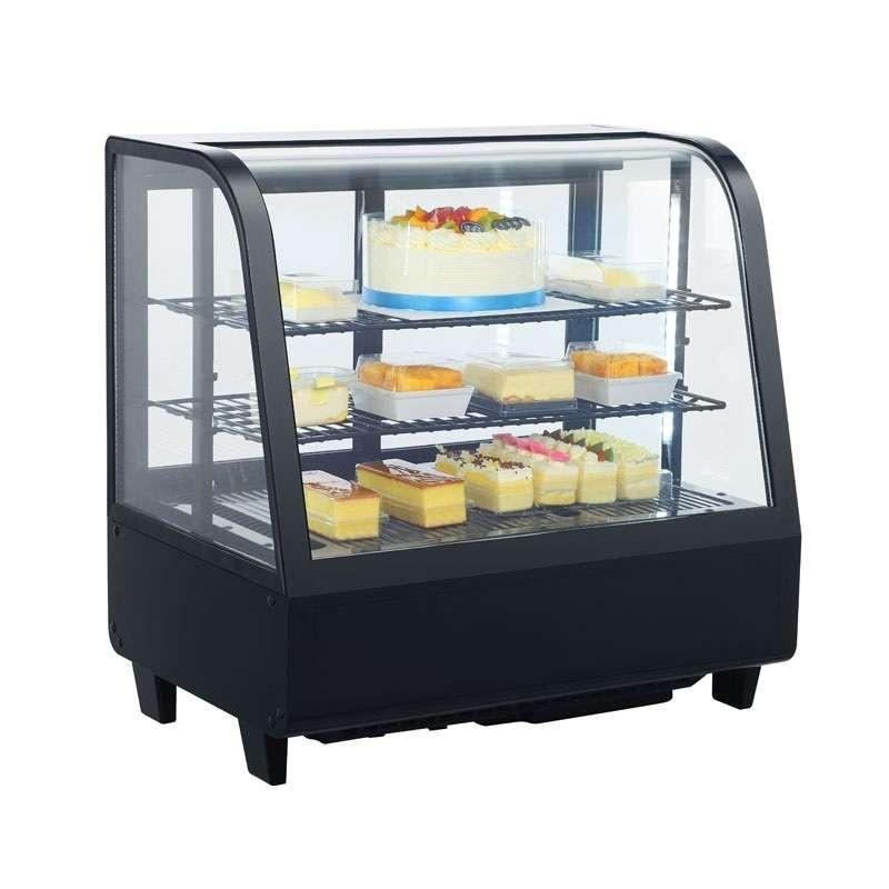 Expositor Refrigerado 4 Caras 100 litros Negro de 682 x450 x675h mm Línea Pekín XCW-100L-N