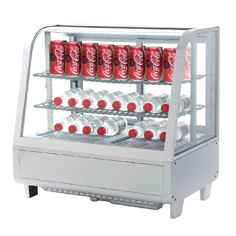 Expositor Refrigerado 4 Caras 100 litros Blanco de 682 x450 x675h mm Línea Pekín XCW-100L-B