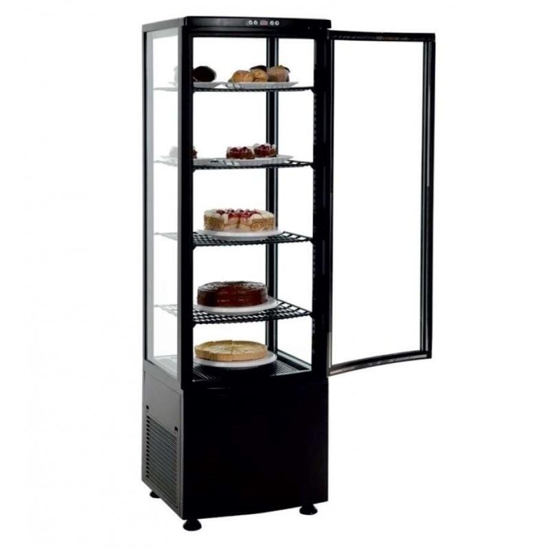 Expositor Refrigerado 4 Caras 238 litros Negro de 515x485x1715h mm Línea Pekín XC238L-N