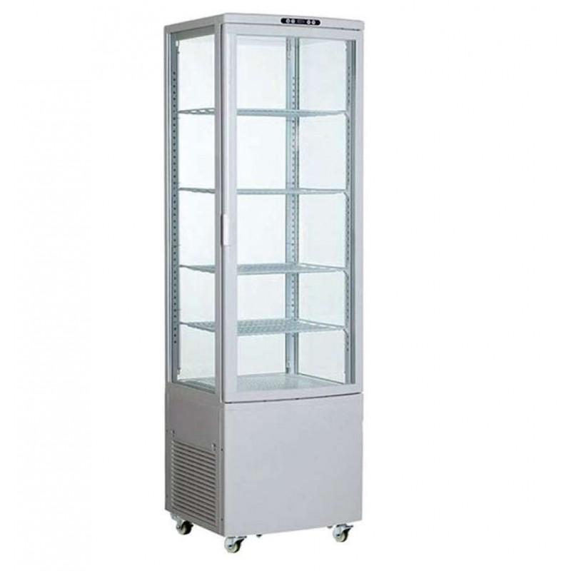 Expositor Refrigerado 4 Caras 238 litros Blanco de 515x485x1715h mm Línea Pekín XC238L-B