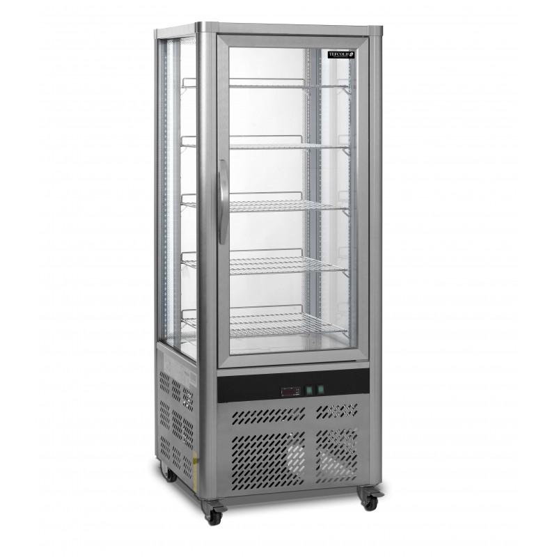 Armario Refrigerado Ventilado Total 4 Caras de Cristal con 5 estantes 706x706x1800h mm Línea VIBORG UPD200-I