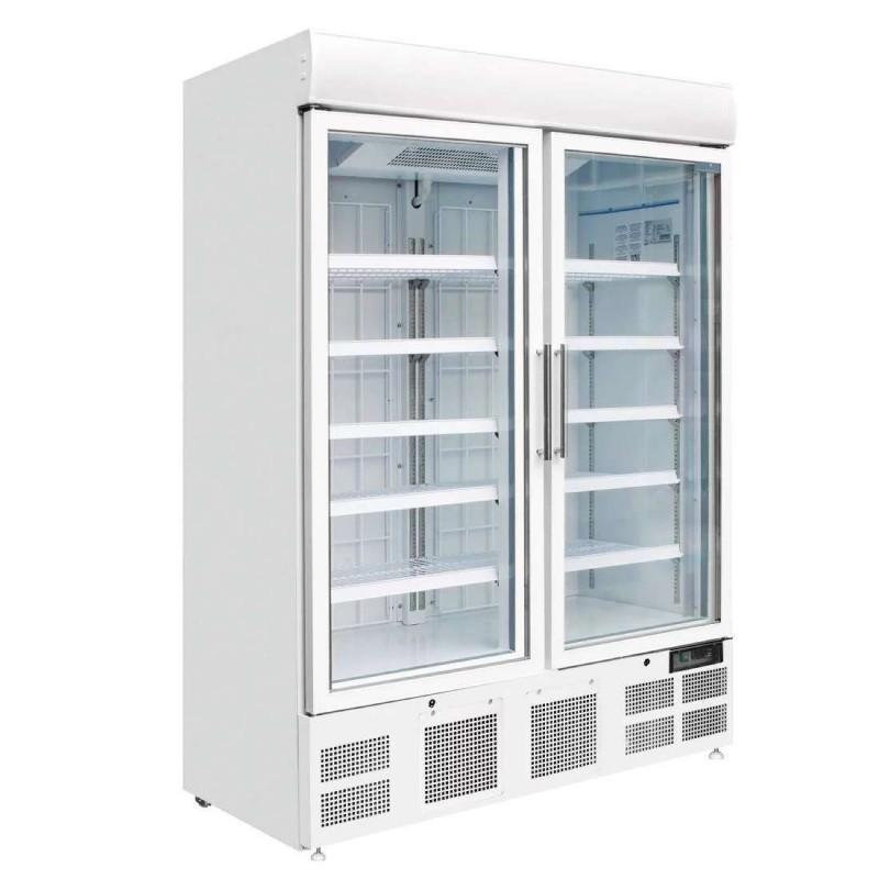 Expositor Congelados 920 litros 2 Puertas de Vidrio Pivotantes de 1370 x745x2045h mm GH507