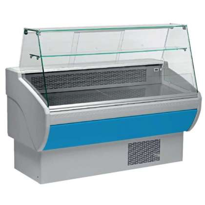 Vitrina Refrigerada Expositora Fondo 800 de 1017 x800 x1260h mm AVEIRO VPL100-A color azul