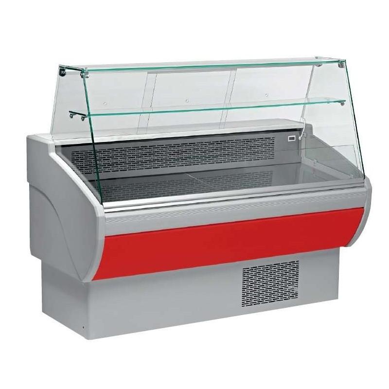 Vitrina Refrigerada Expositora Fondo 800 de 1530 x800 x1260h mm AVEIRO VPL150-R color rojo
