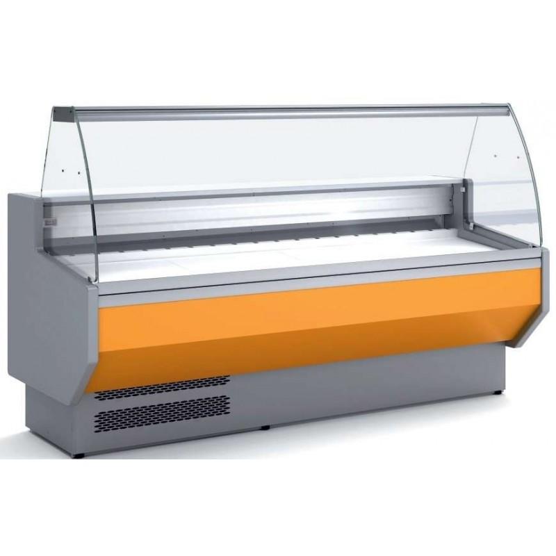 Vitrina Refrigerada Cristal Curvo Fondo 800 dim.1525x800x1235h mm Línea Córdoba VED-8-15-C
