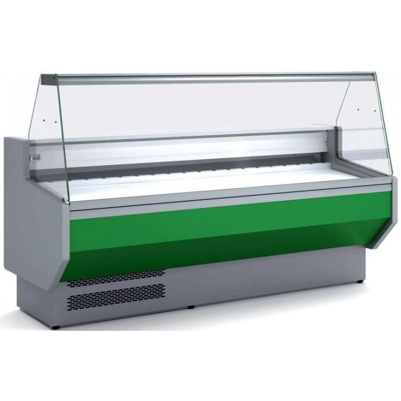 Vitrina Refrigerada Cristal Recto Sin reserva Fondo 900 dim.2525x940x1235h mm Línea Córdoba VEDS-9-25-R