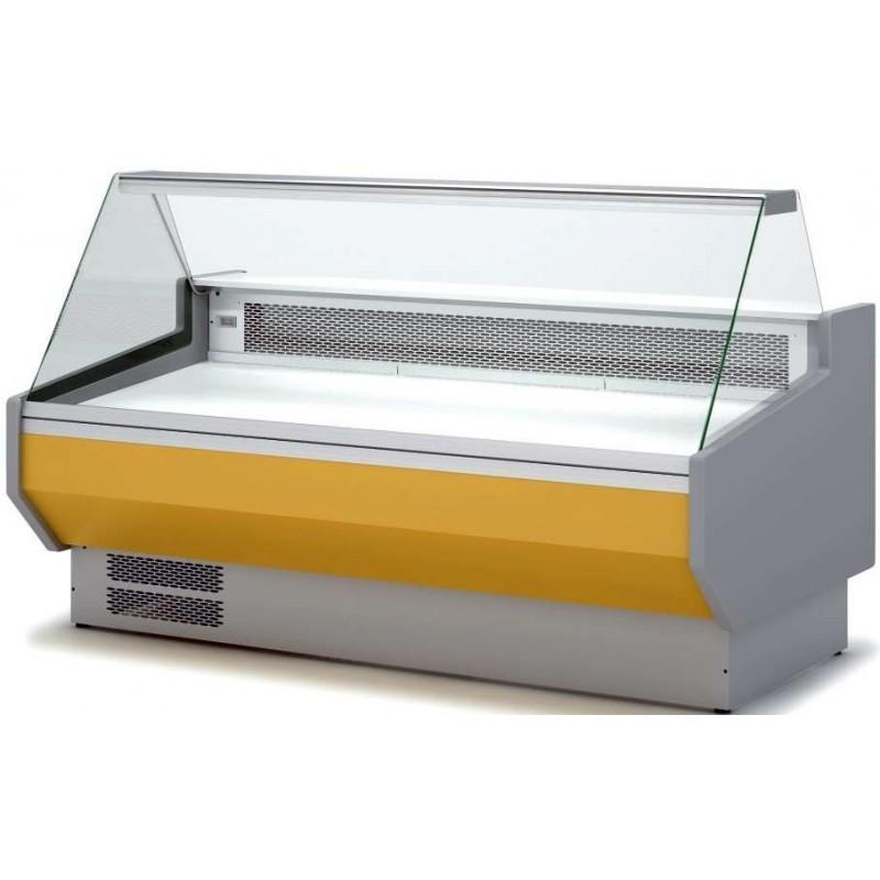 Vitrina Refrigerada Cristal Recto Sin reserva Fondo 1100 dim.2525x1100x1235h mm Línea Córdoba VEDS-10-25-R-TF
