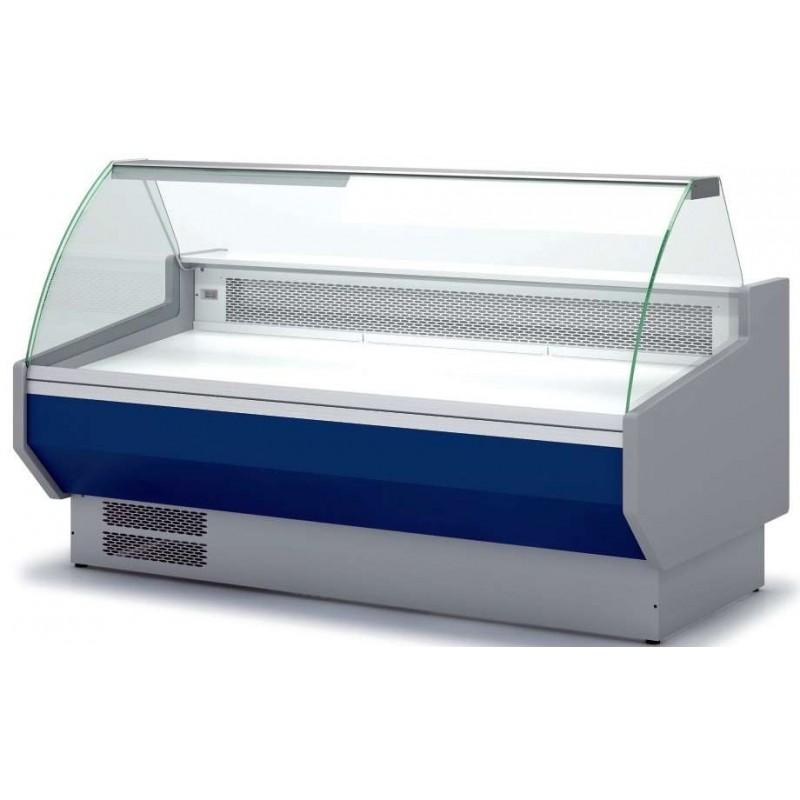 Vitrina Refrigerada Cristal Curvo Sin reserva Fondo 1100 dim.1525x1100x1235h mm Línea Córdoba VEDS-10-15-C-TF