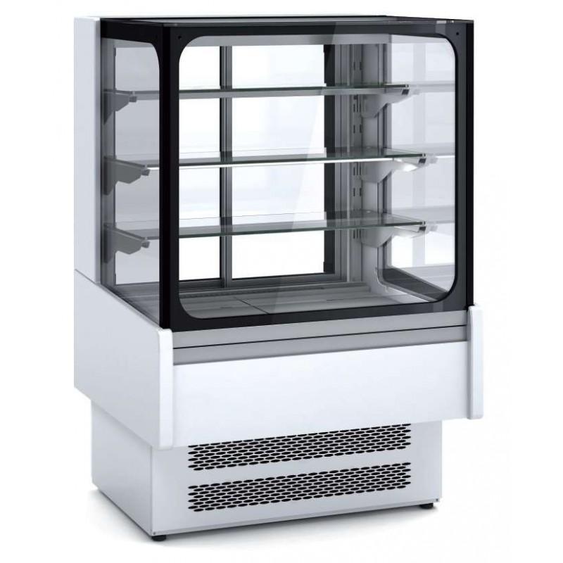 Vitrina Expositora Refrigerada Ventilada Cristal Recto para snack dim.950x730x1379h mm Línea Córdoba VV-6-9-R