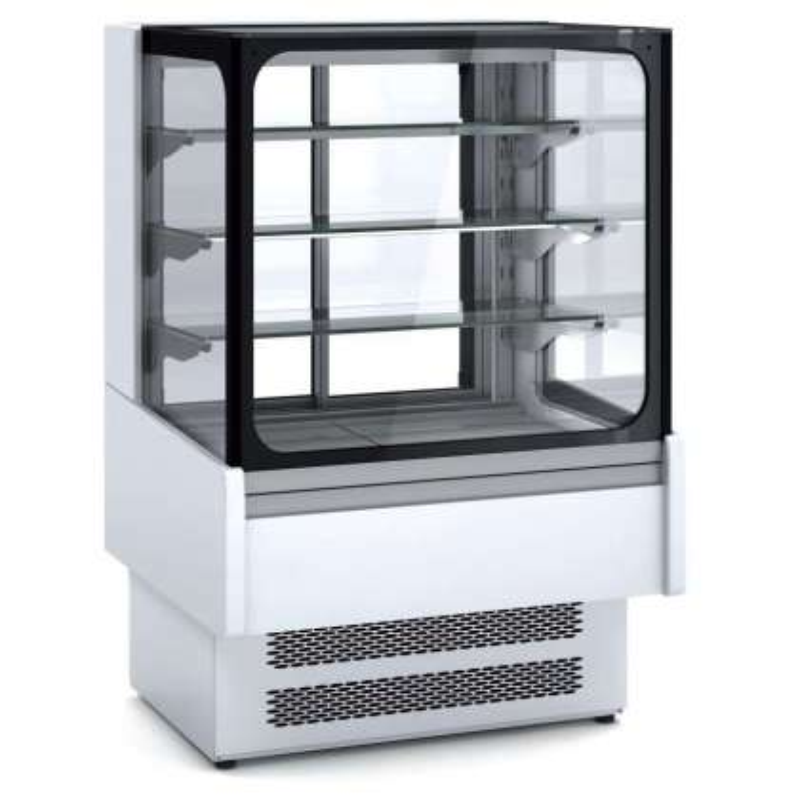 Vitrina Expositora Refrigerada Ventilada Cristal Recto para chocolates dim.600x730x1379h mm Línea Córdoba VVB-6-6-R
