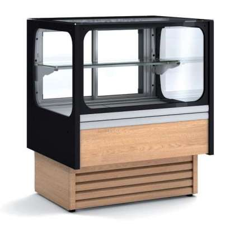 Vitrina Expositora Refrigerada Ventilada Cristal Recto Mostrador para chocolates dim.580x710x1380h mm VV-6-6-RGB