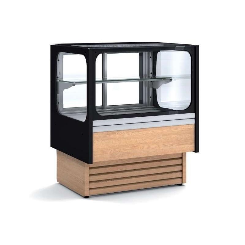 Vitrina Expositora Refrigerada Ventilada Cristal Recto Mostrador para chocolates dim.1280x710x1380h mm VV-6-13-RGB