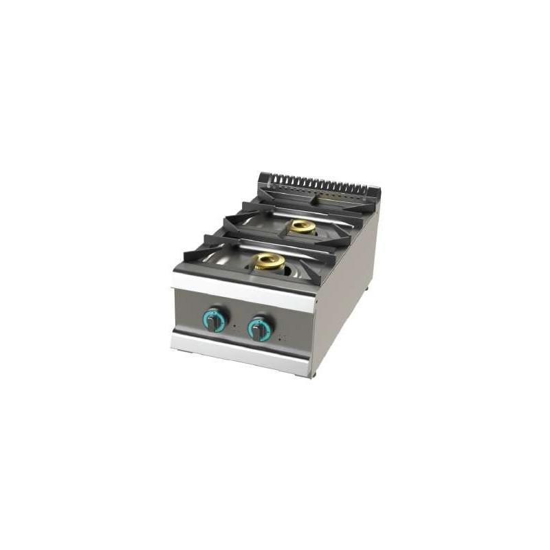 Cocina a gas sobremesa de 2 fuegos 6+4,5 Kw SerIe 700 JUNEX con medidas 400x730x240h mm FO7N200B