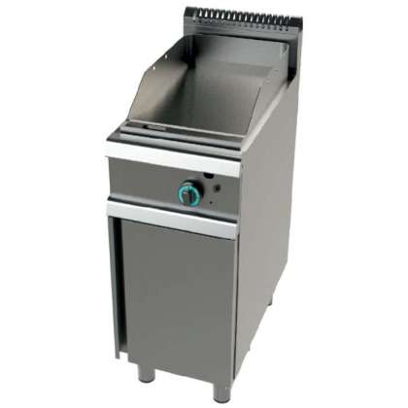 Fry tops a gas acero laminado placa lisa con mueble Serie 900 JUNEX con medidas 400x900x900h mm FT9C00L
