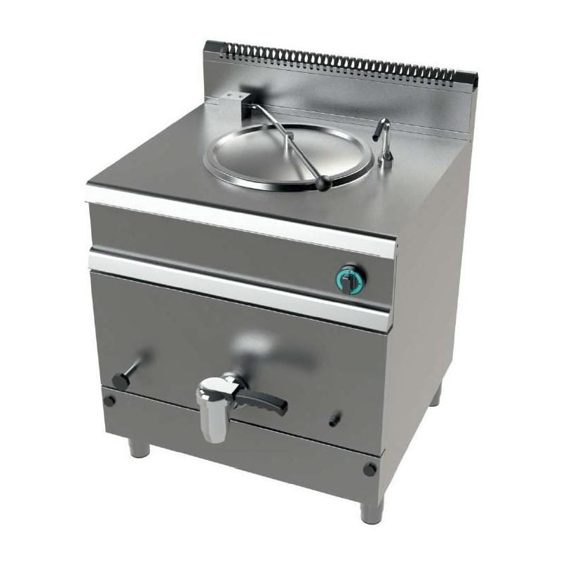Marmita a gas 50 litros calentamiento directo 15,5Kw Serie 700 JUNEX con medidas 800x730x900h mm MG7N050D