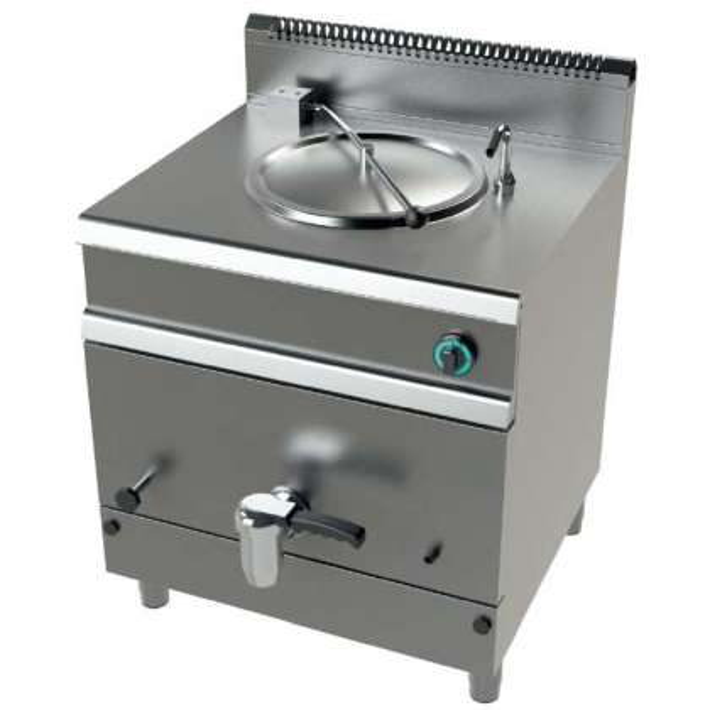 Marmita a gas 50 litros calentamiento indirecto 15,5Kw Serie 700 JUNEX con medidas 800x730x900h mm MG7N050