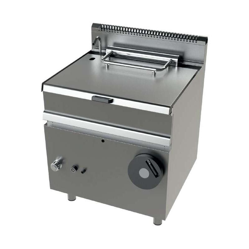Sartén basculante a gas 12Kw fondo cuba en acero inoxidable AISI-304 Serie 700 JUNEX con medidas 800x730x900h mm FD7N050
