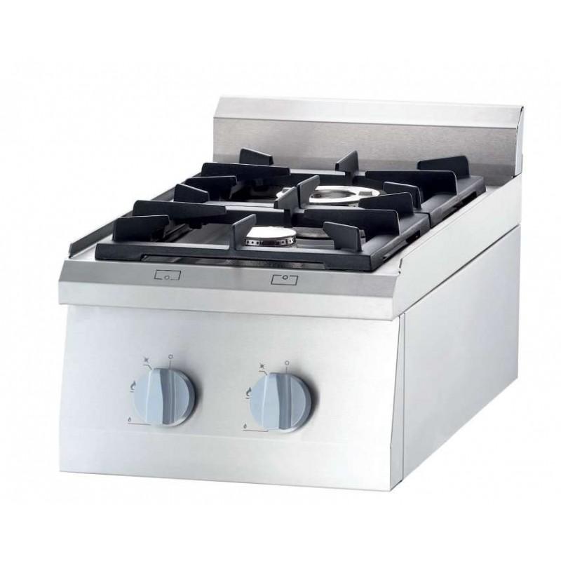 Cocina a gas sobremesa 2 fuegos 400x700x250h mm 3,5+5 Kw Línea Varsovia