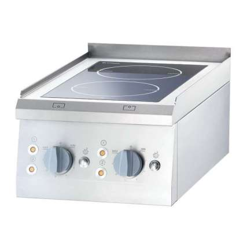 Cocina vitrocerámica sobremesa 2 zonas 400x700x850h mm 2x2,5Kw Línea Varsovia
