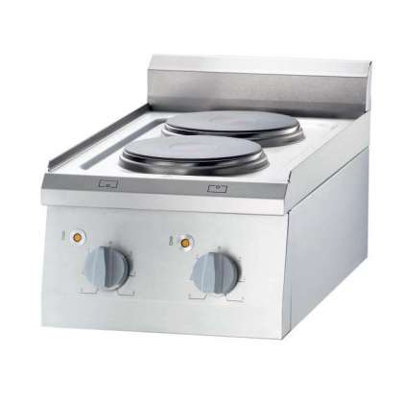Cocina eléctrica sobremesa 2 zonas 400x700x850h mm 2x2,5Kw Línea Varsovia