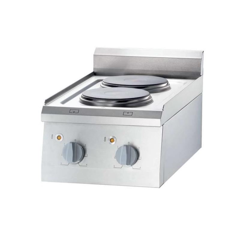 Cocina eléctrica sobremesa 4 zonas 800x700x850h mm 4x2,5Kw Línea Varsovia