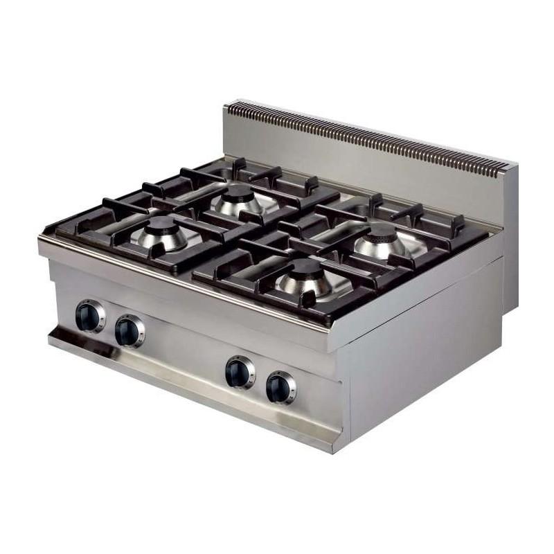 Cocina a gas sobremesa 4 fuegos 4x6kw 400x700x290h mm GR721S Línea Estambul