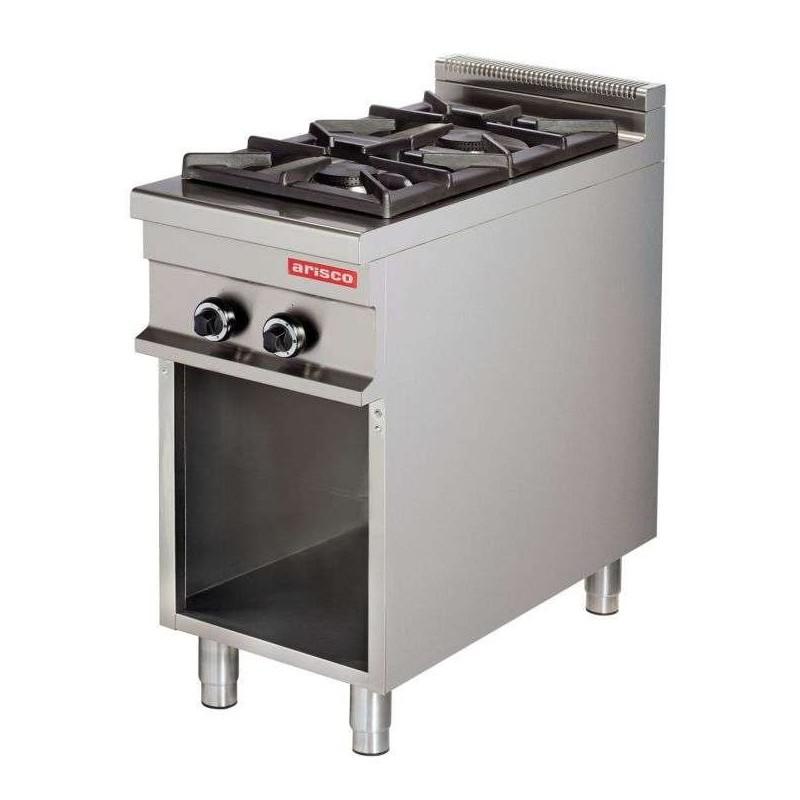 Cocina a gas 2 fuegos 2x8kw 425x900x900h mm GR911 Línea Estambul