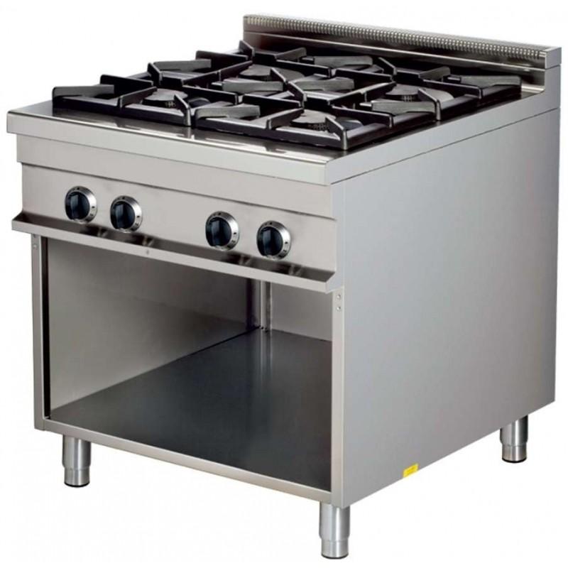 Cocina a gas 4 fuegos 4x8kw 850x900x900h mm GR921 Línea Estambul