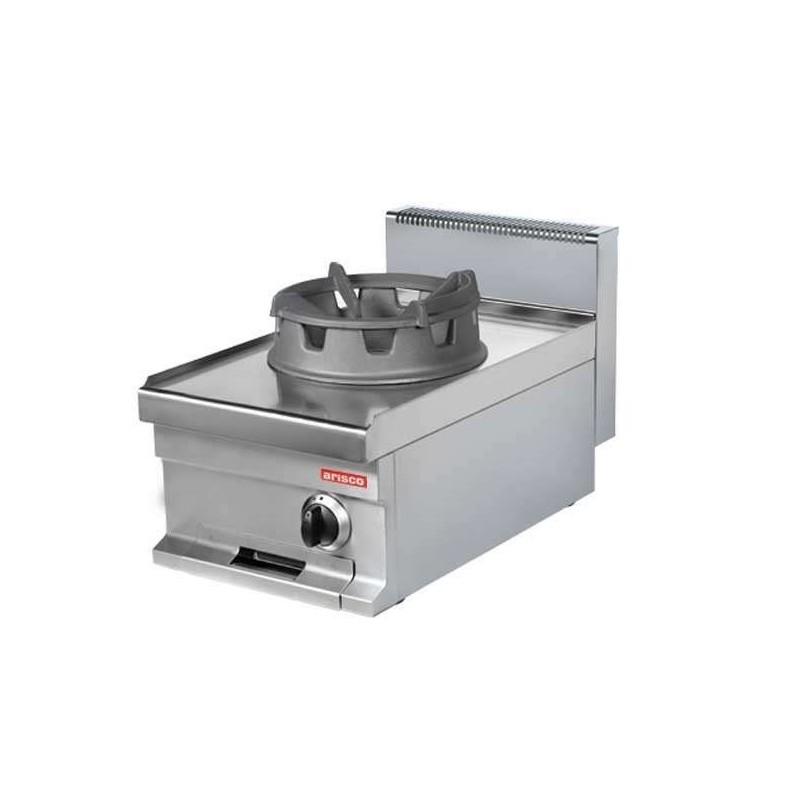 Cocina Wok a gas sobremesa 1 fuego 16 kw 400x700x290h mm WR711S Línea Estambul