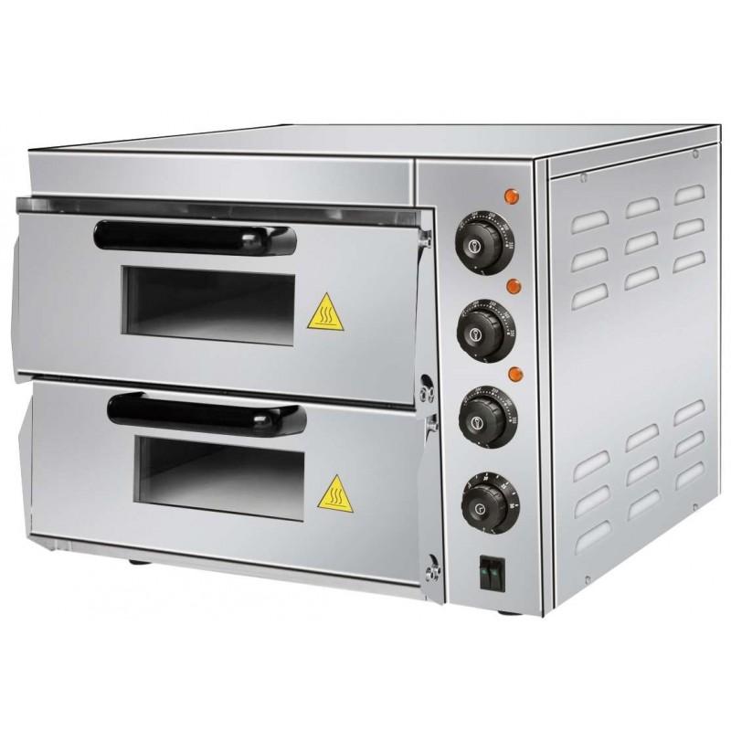 Horno Eléctrico de Pizza Compacto de 560 x570 x440h mm para 2 Pizzas 38 cm PDK40 Línea Pekín