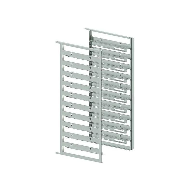 Kit de soportes laterales bivalentes capacidad 10 bandejas GN1/1-600X400 mm MILLENNIAL MKSBX1016 Línea Padova