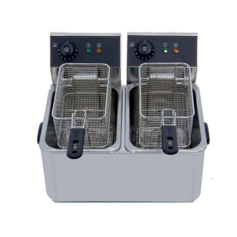 Freidora eléctrica doble 4+4 litros 2+2 Kw 260x385x325h mm IEF-4L-2-EGO