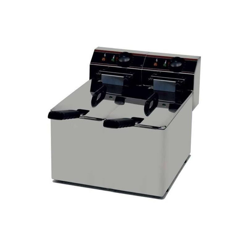 Freidora Eléctrica capacidad 5l+5l pot.2,2,+2,2 Kw sin Grifo de Vaciado línea Badajoz EVO55
