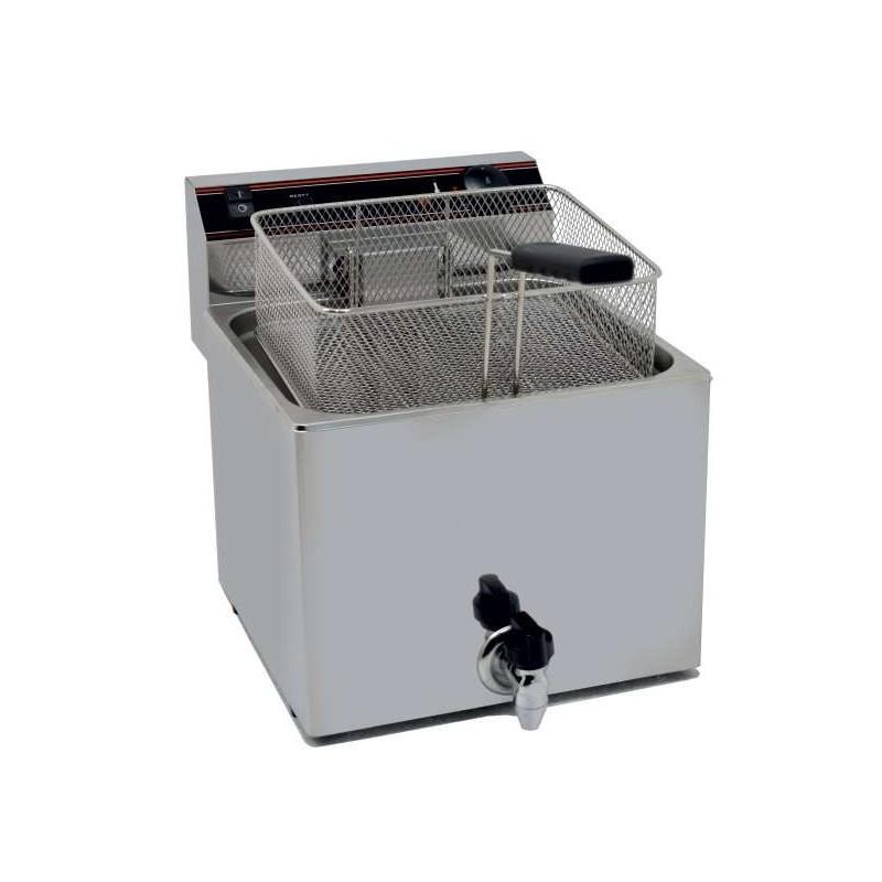 Freidora Eléctrica capacidad 12l pot.4,5 Kw con Grifo de Vaciado línea Badajoz EVO12G