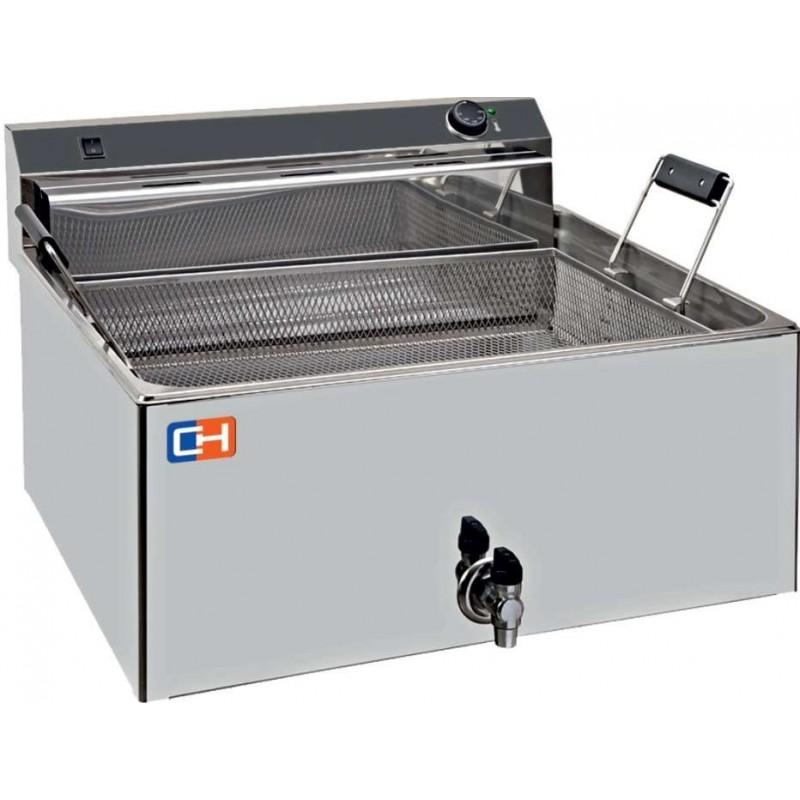 Freidora Especial Pastelería 30 litros 15 kw Trifásica de medidas 650X665X370h mm FP30L
