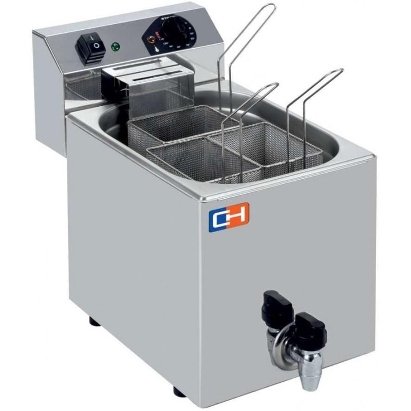Cuecepasta Eléctrico Profesional 7 litros con 3 cestas 270X460X370h mm CP7L