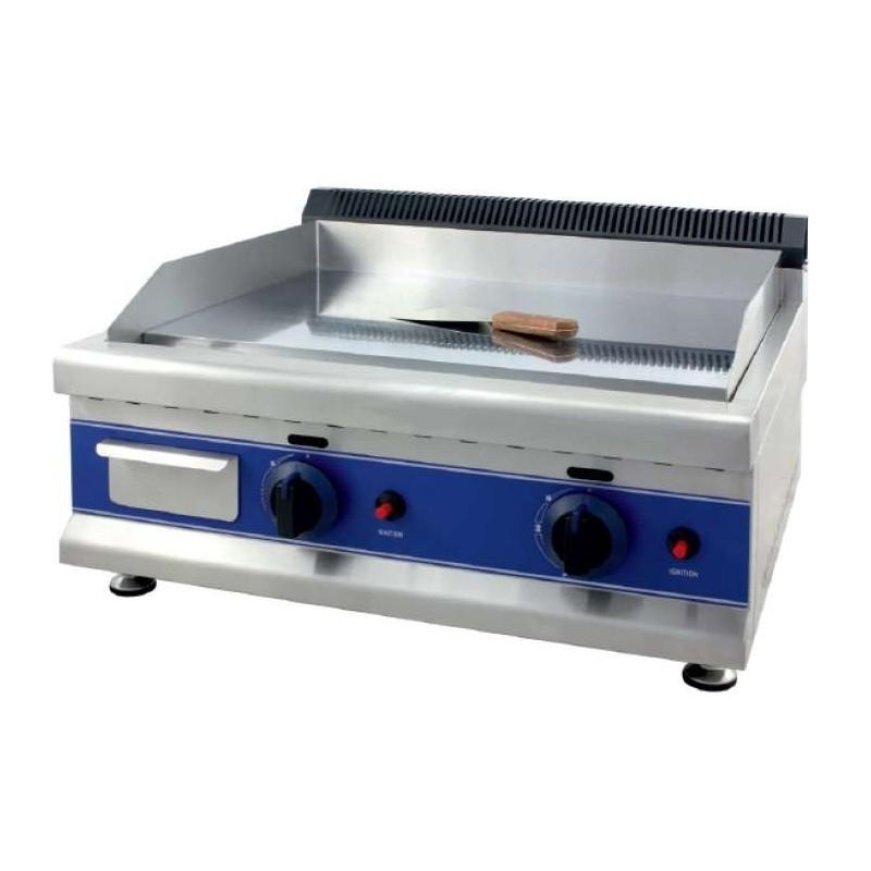 Frytops a Gas Acero 16 mm con Baño Cromo Duro 50 Micras de 650 x610 x340h mm PEKIN ICG650C