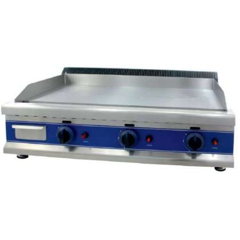 Frytops a Gas Acero 16 mm con Baño Cromo Duro 50 Micras de 950 x610 x340h mm PEKIN ICG950C