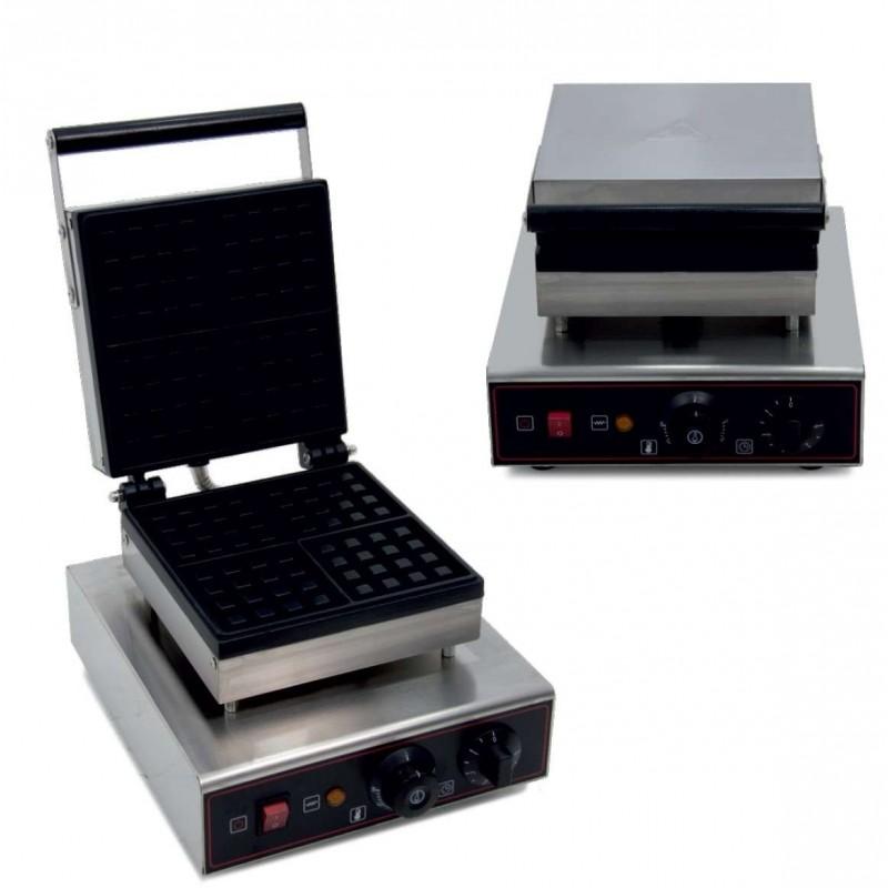 Máquina de gofres eléctrica 1,6KW 282X380X230h mm